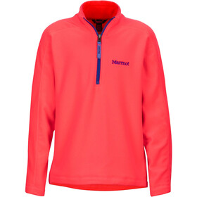 Marmot Rocklin Sweat-shirt avec Fermeture éclair 1/2 Fille, bright pink